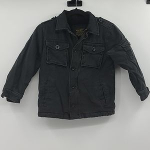 Old Navy black thick filled coat. Boys size small
